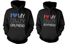 If you are looking for a high quality matching hoodies this is it! Made in USA, our couples matching hooded sweatshirts are individually printed using a digital printer and quality is assured. Put smi