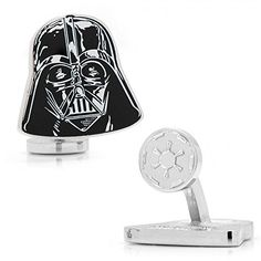 NIB Officially Licensed Star Wars Darth Vader Head Cufflinks Approximately x Rhodium plated base metal and enamel Fixed logo back closure Officially licensed by Lucasfilm LTD Comes In Star Wars GIft Box Star Wars Darth Vader, Darth Vader Head, Vader Helmet, Ring Settings Only, Star Wars Gifts, Star Wars Episodes, Mens Gift Sets, Personalized Jewelry, Box