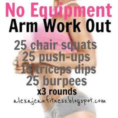 Fitness & Health: No Equipment Arm Work Out //