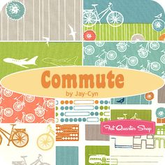 Commute Fat Quarter Bundle Jay-Cyn for Birch Organic Fabrics - Fat Quarter Shop
