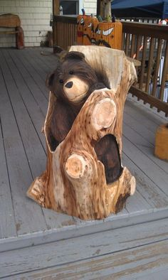 go rustic!: chainsaw carved bears | holz bären schnitzen, Garten und erstellen