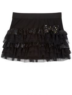 Pleather Tiered Skirt