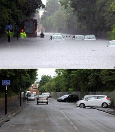 Devastation ... flash flood scenes in Newcastle yesterday, and this morning