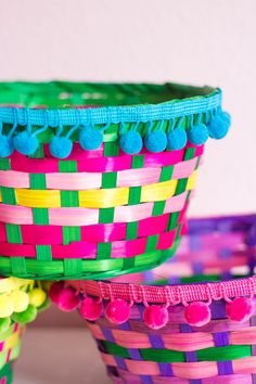easter baskets into colorful boho storage...