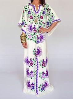 Bordado mexicano - Bordadas à mão. O vestido tradicional do México ...