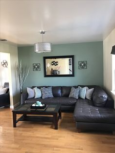 Best Living Room Accent Wall Colors Desks Furniture 86 Images Behr Painting Finally Done With New Light Fixture Sage Green Added Candles To Coffee Table