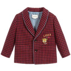 Gucci Baby, Gucci Kids, Linen Jackets, Outerwear Jackets, Blazer For Boys, Houndstooth Jacket, Linen Blazer, Boy Blue, Looking For Women