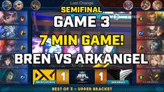 BREN ESPORTS VS ARKANGEL GAME 3 SEMIFINAL MPL PH S3 | Mobile Legends Phi... Game 3, Mobile Legends, Esports, Philippines, Broadway Shows, Comic Books, Change, Youtube, Drawing Cartoons