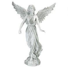 Design Toscano H x W Angels and Cherubs Garden Statue at Lowe's. Classically posed and full of spiritual rapture, this stunning angel is an heirloom investment for generations to come. This Design Toscano fine memorial Angel Garden Statues, Outdoor Garden Statues, Garden Angels, Outdoor Sculpture, Sculpture Art, Deer Statues, Yard Sculptures, Pose, Montage