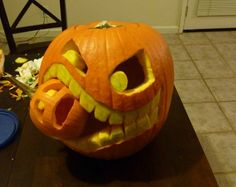 pumpkin carving ideas #halloween