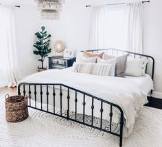 Home decor - Novogratz Bushwick Bed Wedding Bedroom, Bohemian Style Bedrooms, Home Decor Bedroom, Modern Bedroom, Bedroom Ideas, Master Bedroom, Bedroom Neutral, Bedroom Furniture, My New Room