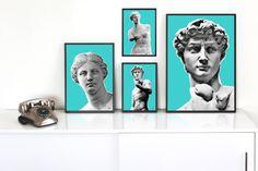 Face Of Venus De Milo Pop Art Print