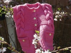 Baby Girl Pink Sleeveless Cardigan £10.00