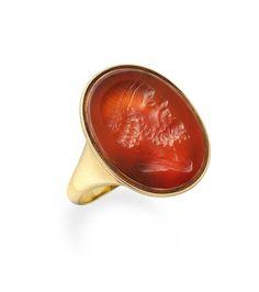A Georgian carnelian inataglio ring