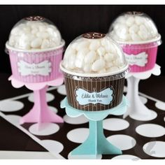Personalized Candy Cupcake Favors Cupcake Candy Favors] : Wholesale Wedding Supplies, Discount Wedding Favors, Party Favors, and Bulk Event Supplies Cupcake Packaging, Cupcake Favors, Candy Favors, Cupcake Party, Wedding Cupcakes, Birthday Cupcakes, Birthday Party Favors, Cupcake Wrapper, Diy Cupcake