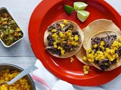Steak and Black Bean Chalupas : These chalupas, which are simply open-faced tacos, are easy to make. Use an inexpensive cube steak, but be sure to sear it in a hot skillet for just 1 to 2 minutes to keep it from overcooking. Serve with black beans and mango salsa.