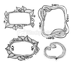 vintage hand drawn frames