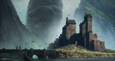 The amazing digital art of Andreas Rocha Master the Art of Speed Painting: Digital Painting Techniques Fantasy City, Fantasy Castle, Fantasy Places, Fantasy Map, Medieval Fantasy, Sci Fi Fantasy, Fantasy World, Concept Art World, Fantasy Concept Art
