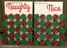 Naughty or Nice Christmas Game is part of Holiday crafts Party - Naughty or Nice Christmas Game is perfect for a large group and everyone will be laughing Start your Christmas tradition! A simple DIY craft tutorial idea Christmas Games For Family, Xmas Games, Holiday Games, Holiday Fun, Christmas Holidays, Christmas Gifts, Office Christmas Party Games, Christmas Party Ideas For Adults, Xmas Party Ideas