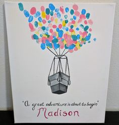 Baby gift for teacher students wrote their names on the balloons best baby shower gift for a teacher negle Image collections