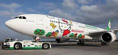 From point A to point Awesome via Hello Kitty Jet.