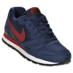 Nike Air Waffle Trainer Men's Casual Shoes. Midnight Navy/Team Red/Black/White
