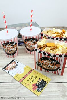 Free Family Movie Night Printables plus a Pizza Popcorn Snack Mix Recipe