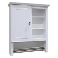 Style Selections 24.5-In W X 29-In H X 7.66-In D White Bathroom Wall Cabinet Tt321-Ss Bathroom Wall Cabinets White, Bathroom Wall Storage, Wall Storage Cabinets, Laundry Room Storage, Bathroom Flooring, White Bathroom, Bathroom Furniture, Modern Bathroom, Classic Bathroom