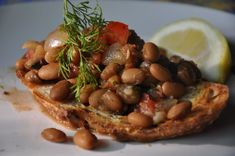 Yellow Indian Woman Beans with Lemon and Dill. Any excuse to use those great Rancho Gordo beans!