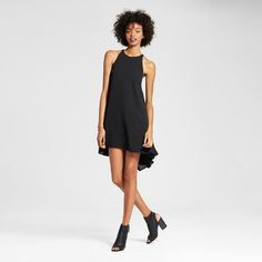 Women's High Low Trapeze Dress Black - Mossimo™