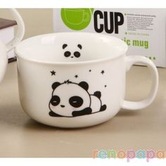 Kawaii panda mugs