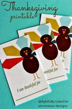 I am Thankful Printable