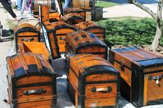 These chest were at an antique sale in Knoxville, IL. They just caught my eye