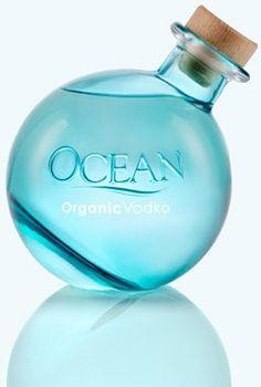Ocean Organic Vodka from Maui Liquor Bottles, Vodka Bottle, Perfume Bottles, Glass Bottles, Gluten Free Vodka, Vodka Mojito, Packaging World, Packaging Design, The Best Vodka