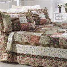 Colcha Patchwork Queen com 2 Portas-travesseiro Corttex Casa Chamonix 150 Fios