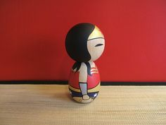 Kokeshi doll The Wonder Woman inspired custom by temple7e on Etsy, $40.00