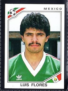 world cup panini mexico 86 - L.Flores