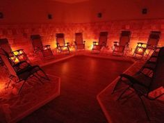 Austin Salt Cave: Halotherapy and Salt Wellness Center Opens in Lakeway Salt Cave Spa, Salt Room Therapy, Best Places To Camp, Himalayan Salt Lamp, Best Spa, Spa Design, Buy Furniture Online, Texas Travel, Spa Day