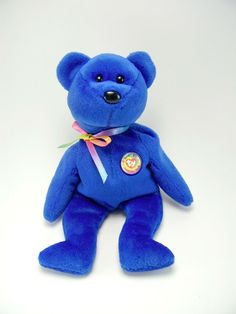 Ty Beanie Baby~#No~Clubby The Light Blue Bear~5th Generation~Good Heart Tag~BE