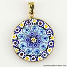 57 best murano millefiori pendants jewelry images on pinterest medium millefiori pendant in gold plated frame 23mm aloadofball Images