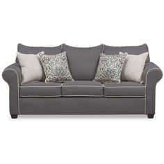 Best Brittney Gray Sofa Value City Furniture Liked On 400 x 300