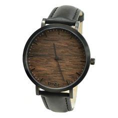 Tmbr. Minimalist Wood Watch - Helm - Black/Sandalwood