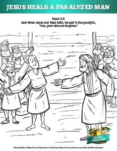 Kids Coloring Page From Whats In The Bible Showing The