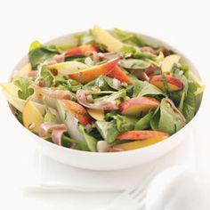 Nectarine, Prosciutto & Endive Salad:  3/4 cup equals 260 calories