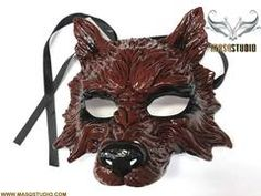 Leopard Masquerade Mask Halloween Haunted House Party Burning Man Wear or Deco