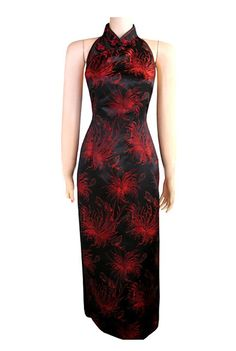 Chinese dress black and red