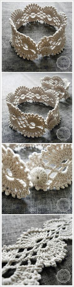Crochet bracelet. I might actually make this one.