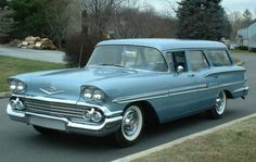1958 Chevrolet Brookwood station wagon...Re-pin brought to you by agents of #CarInsurance at #Houseofinsurance in Eugene, Oregon