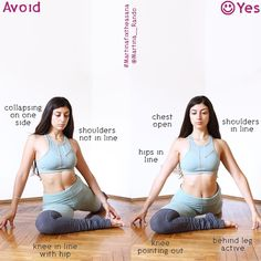"""""""Pigeon pose is a pose for everyone. with the right adjustments :) my advise is to always try to keep the pose active and avoiding…"""" Yoga Teacher Yoga Position, Videos Yoga, Yoga Bewegungen, Yoga Training, Yoga At Home, Types Of Yoga, Yoga Poses For Beginners, Yoga Tips, Yoga Benefits"""