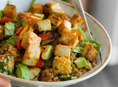 Arizona - Spicy Southwest Tofu Quinoa Bowl with Medjool Date Lime Dressing